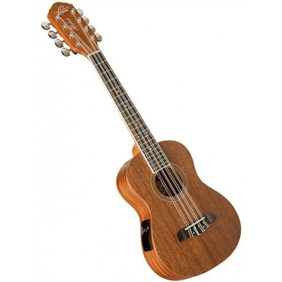 Oscar Schmidt Model OU28TE 8 String Tenor Size All Mahogany Acoustic Electric Ukulele