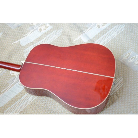 Oscar Schmidt OG2FBC Flame Black Cherry Finish dreadnought Acoustic Guitar