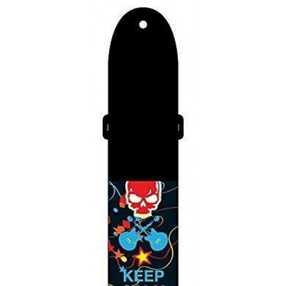 Perris Leathers LPCP-6854 Guitar Strap, Keep Calm & Rock On - It's My Birthday
