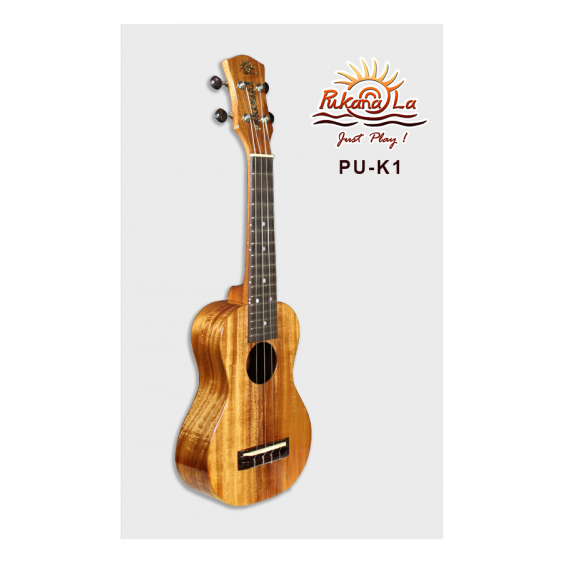 PukanaLa PU-K1  Solid Acacia Koa K Series Professional Soprano Ukulele -Blem P26
