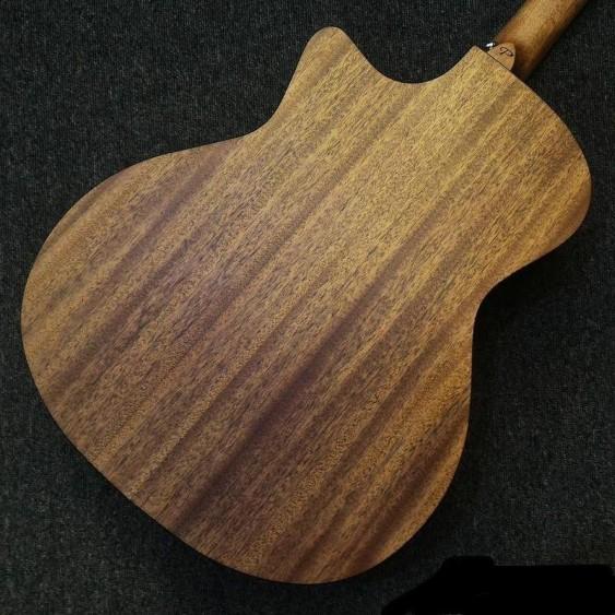 PukanaLa PG-GA2C Solid Mahogany Top Orchestra Model Cutaway Acoustic Guitar