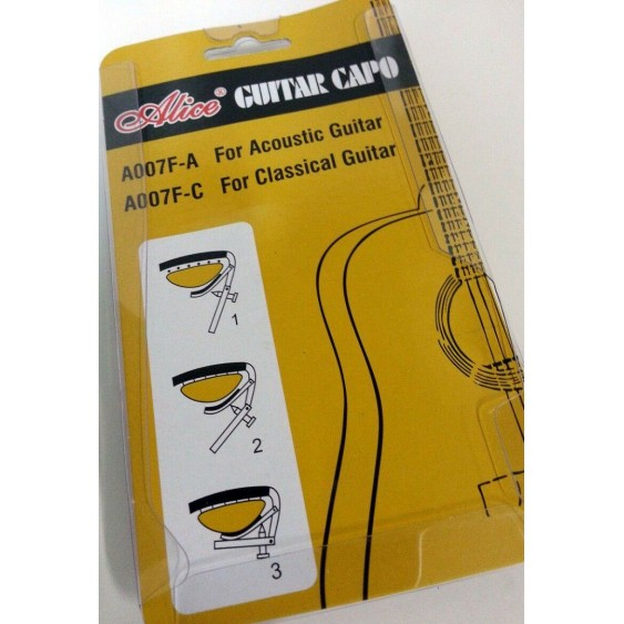 Alice Model A007F-A  Acoustic Guitar Capo - Steel Construction
