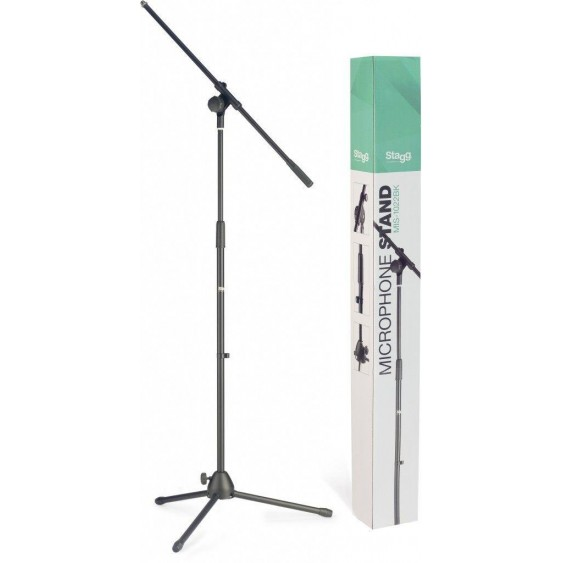 Stagg MIS1022BK Black Folding Base Microphone Boom Stand - Professional quality