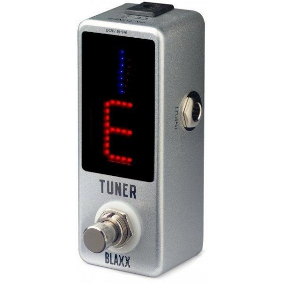 Blaxx by Stagg Auto-Chromatic Mini Pedal Tuner for Guitar, Bass, and More