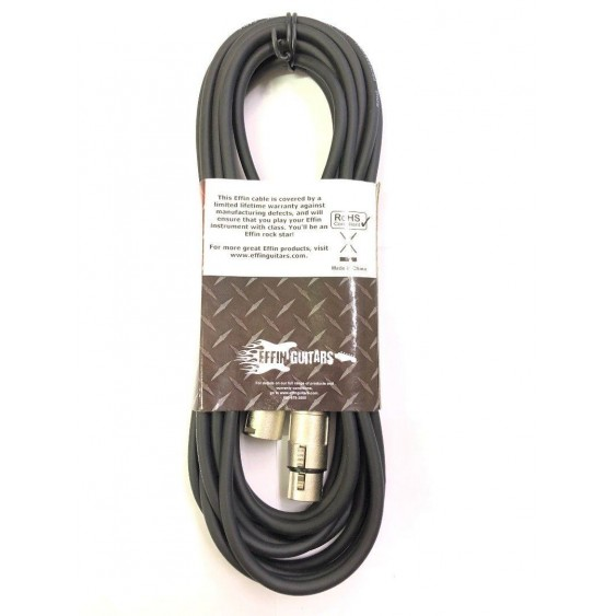 Effin Guitars Model FMC20 20 Foot Professional Microphone XLR to XLR Cable