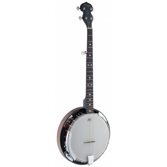 Stagg Model BJW24 DL Deluxe 5-String Western Banjo with Mahogany Resonator