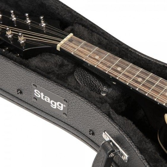 "Stagg Model GCA-M Hardshell ""A"" Style HARDSHELL Bluegrass Mandolin Case"