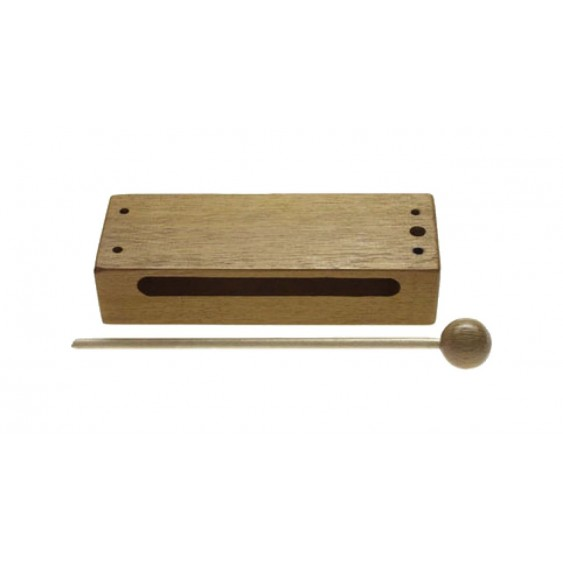 Stagg Model WB-226S Small, Durable Wood Block Percussion Instrument with Mallet