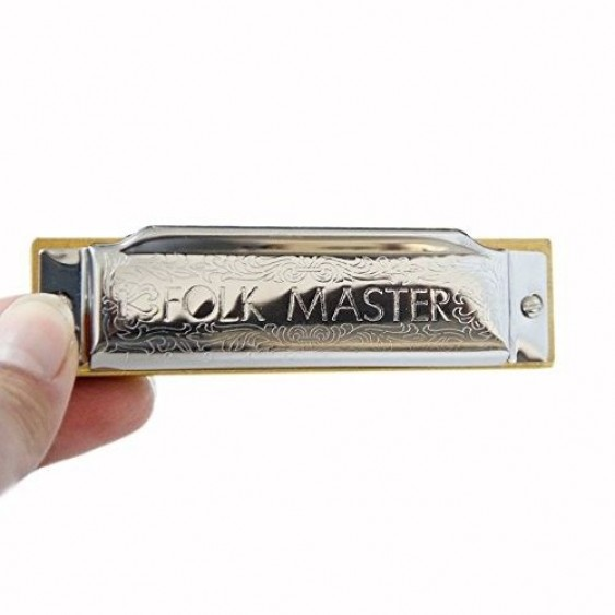 Suzuki Folkmaster 1072-D Standard Beginner Diatonic Blues Harmonica Key of D