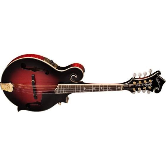 Washburn M3SWETWRK F-style Trans Red Acoustic Electric Mandolin w/Case - Blem