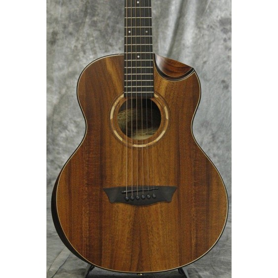 Washburn WCGM55K Comfort Series KOA WOOD TOP 3/4 Size Acoustic Guitar - BLEM