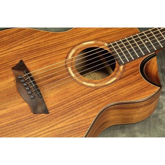 Washburn WCGM55K Comfort Series KOA WOOD TOP 3/4 Size Acoustic Guitar - BLEM