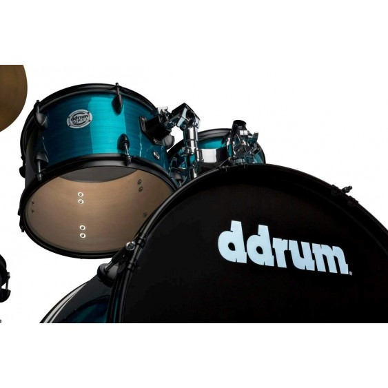 Ddrum d2 Player 5-Piece Drum Set with Hardware and Cymbals-Blue Pinstripe Finish
