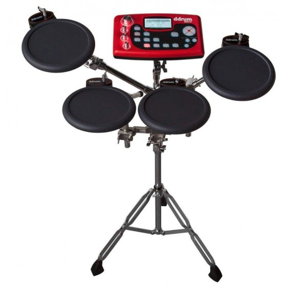 DDrum Model DD2XS Digital Drum 4 Pad Sample Station in Red and Black Finish-DEMO