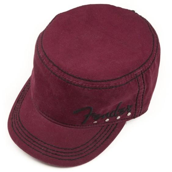 Genuine Fender Wine Red Legion Cap Spaghetti Logo Hat Small-Medium #9106629306