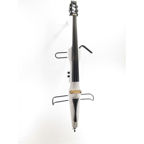 Stagg ECL 4/4 WH - White Finish Electric Cello with Bow and Carrying Bag - NEW