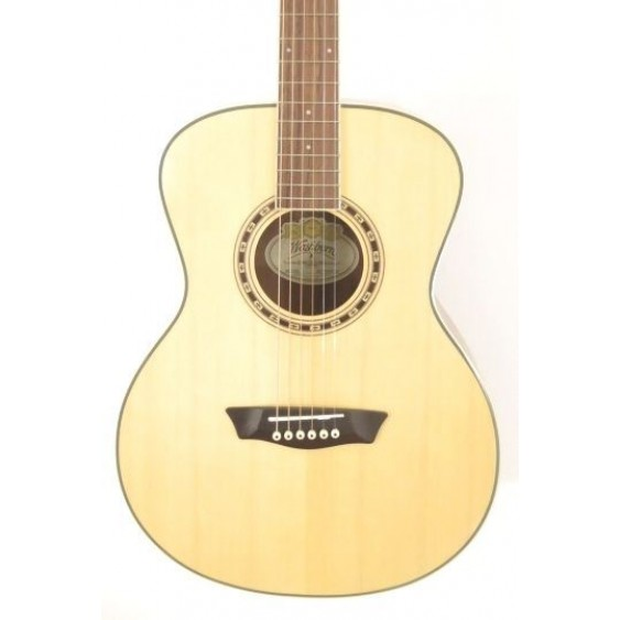 Washburn WF10S Solid Top Natural Acoustic Folk Guitar - Factory Blem #B428