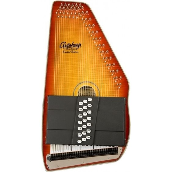 Oscar Schmidt OS11021FHS Flame Honeyburst Finish Acoustic 21 Chord Autoharp