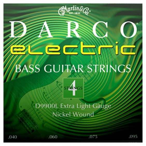2 sets Martin Darco D9900L Nickel Plated Bass Guitar Strings, extra Light -40-95