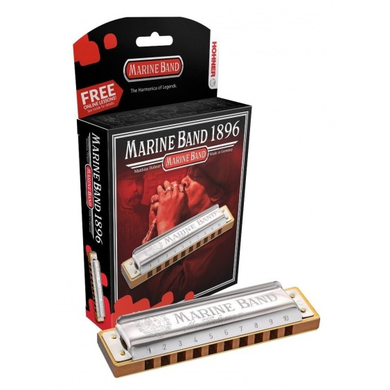 Hohner Marine Band Harmonica in the Key of Minor Bb Model 1896BX German Quality