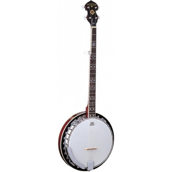 Oscar Schmidt OB5E Gloss Quality 5 string banjo with Pickup & geared 5th string