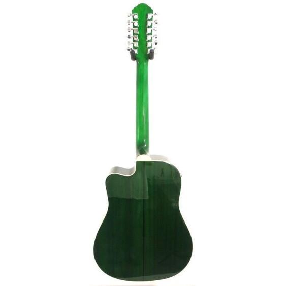 oscar schmidt transparent green 12 string acoustic electric guitar od312cetgr. Black Bedroom Furniture Sets. Home Design Ideas