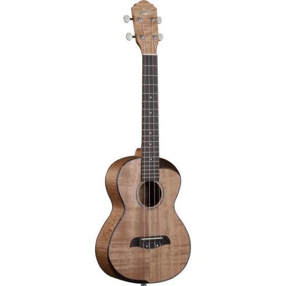 Oscar Schmidt OU800T-A Comfort Flame Maple Acoustic 4 String Tenor Ukulele