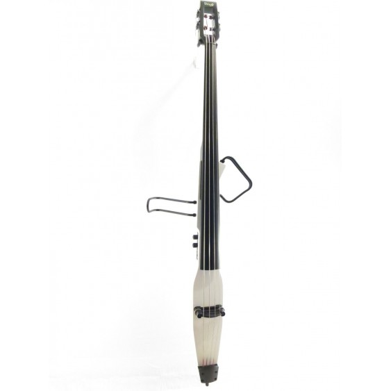 Stagg EDB-3/4 WH White Electric Upright Double Bass with Gig Bag - Stick Bass