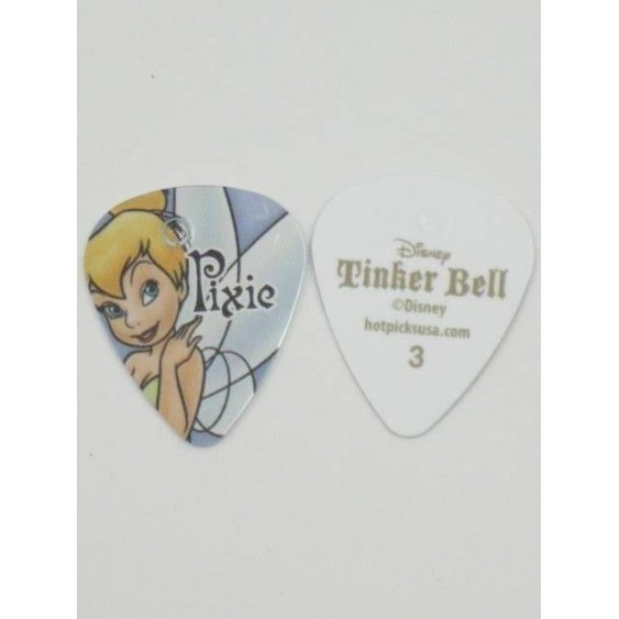 "108 Disney ""Tinkerbell""  Licensed Guitar Picks #3 w/Hole for earrings"