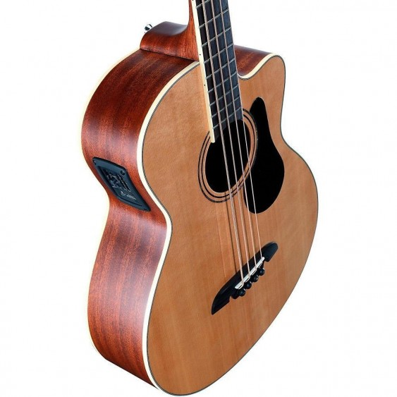 Alvarez Model AB60CE Artist Series Acoustic Electric Bass Guitar Natural Finish