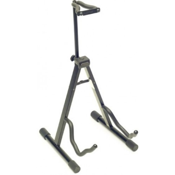"Stagg Model SG-A008NH BK Black ""A Frame"" Guitar Stand with Locking Neck Holder"