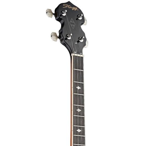 Stagg Model BJM30 4DL - 4-String Closed Back Deluxe Bluegrass Banjo - NEW