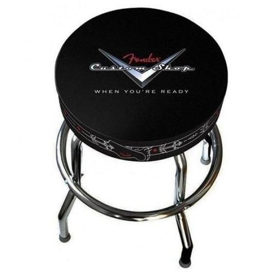 Fender Guitars Custom Shop Black 24 Inch Barstool w/Padded Seat 0990230020 - NEW