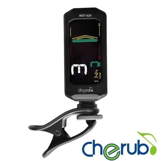 Cherub WST-620 Clip on Chromatic Tuner for Left Handed Players ! - FLIP SCREEN!