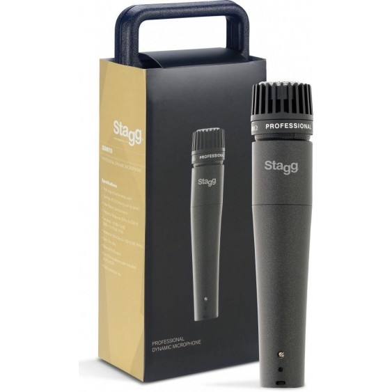 Stagg SDM70 - Pro Grade Instrument Dynamic Microphone with Cable and Case - NEW