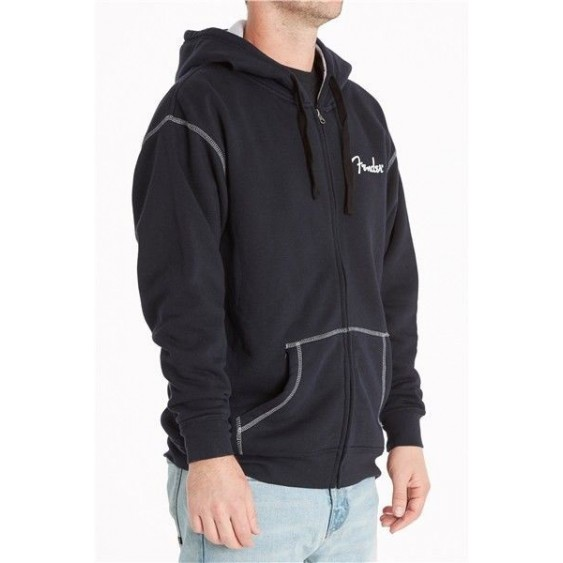 "Fender ""California Are You Ready To Rock"" Black Lined Hoodie - Small #9115005306"