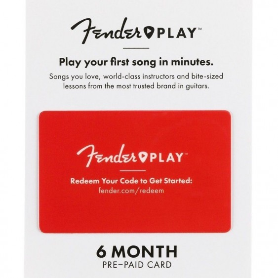 Fender Play 6 Month Subscription for Beginner Acoustic Electric Guitar Lessons