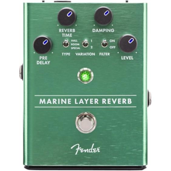 Genuine FENDER Marine Layer Reverb Pedal , Solid Aluminum Stomp Box #0234532000