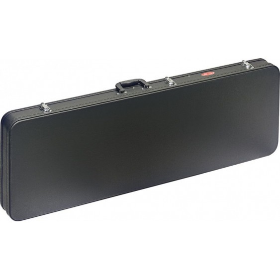 Stagg Model GCA-RB - Black Tolex Rectangular Deluxe Electric Bass Guitar Case