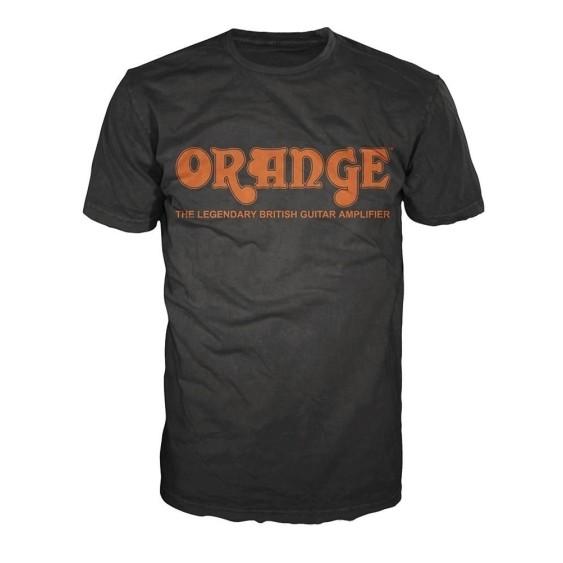 Orange Amplifiers Black Retro Logo Fitted 100% Cotton T-Shirt, Men's XL - NEW