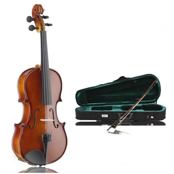 Stagg VN-4/4 - Full Size Solid Maple Violin w/Ebonized Fingerboard and Case