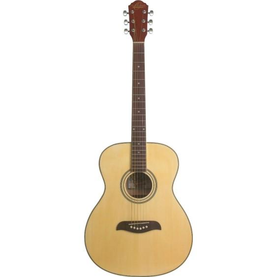 Oscar Schmidt Model OAN-A Natural Auditorium Size Acoustic Guitar - NEW