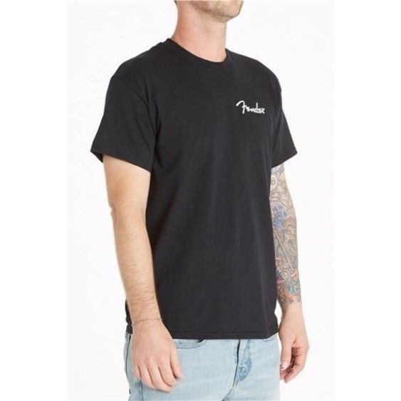 "Genuine Fender ""Hello Canada! Are you ready to ROCK?"" 100% Cotton T-Shirt Large"