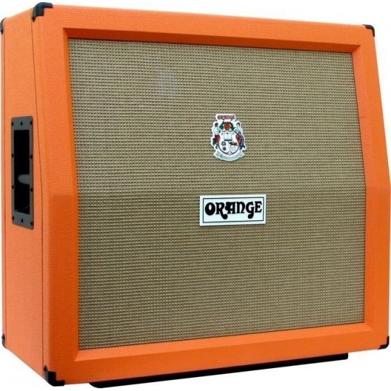 "Orange PPC412A 4 x 12"" 240 Watt Angled Back Speaker Cabinet 5Ft Cable Bundle"