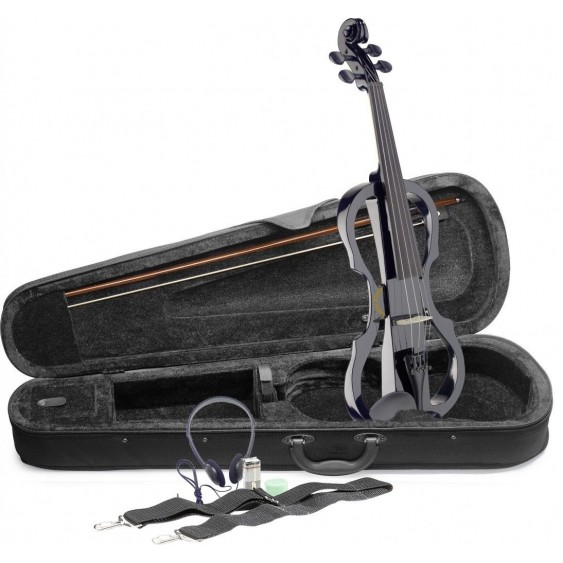 Lucky Penny EVX/BK Black 4/4 silent violin electric violin w/Hard Case and More