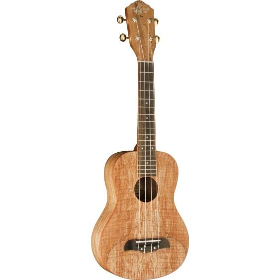 Oscar Schmidt Model OU8-R Spalted Maple Concert Size Ukulele 4 String - NEW
