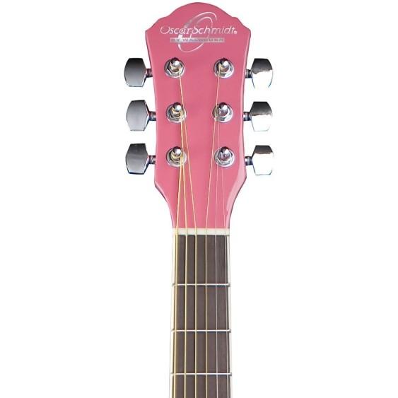 Oscar Schmidt Model OG1P-A  3/4 Size Pink Dreadnought Acoustic Guitar - NEW