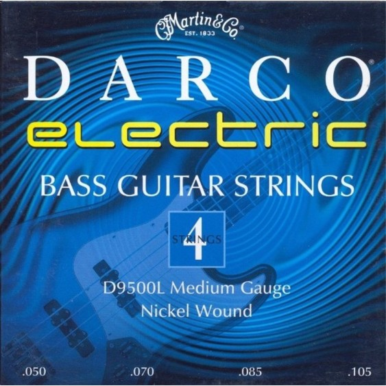 2 sets Martin Darco D9500L Nickel Plated Bass Guitar Strings, Medium 50-105