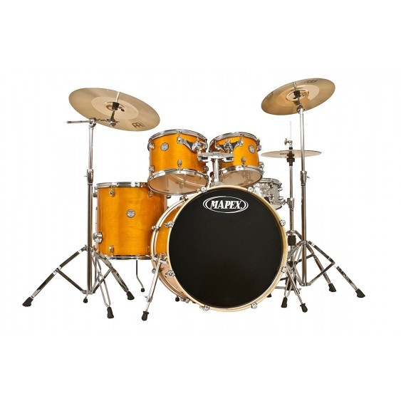 Mapex Horizon 5PC SHELL PACK HZB529SJRY Trans Rattan Yellow with Hammered Snare