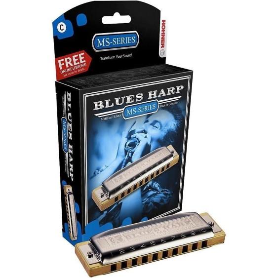 Hohner Blues Harp 10-Hole Diatonic Harmonica Key of C Major #532BX-C